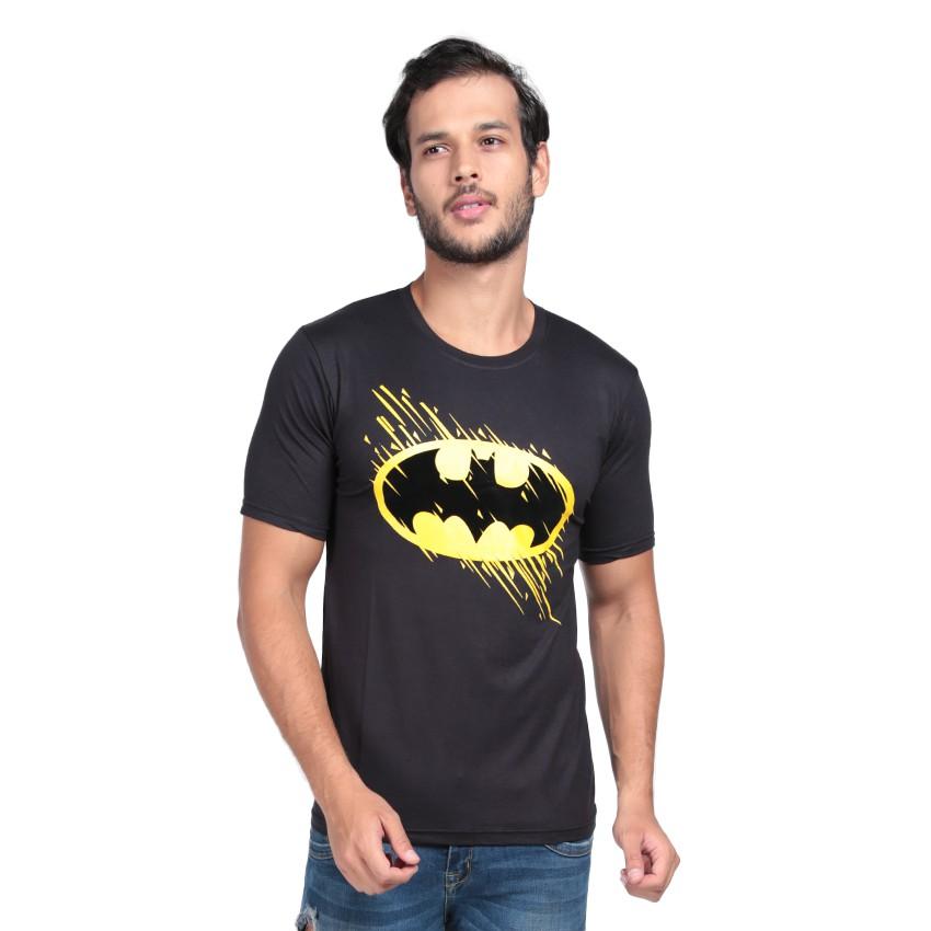 Kaos Pria / Distro Premium / T-shirt Cowok Superhero Batman LOGO - Hitam - Vanwin