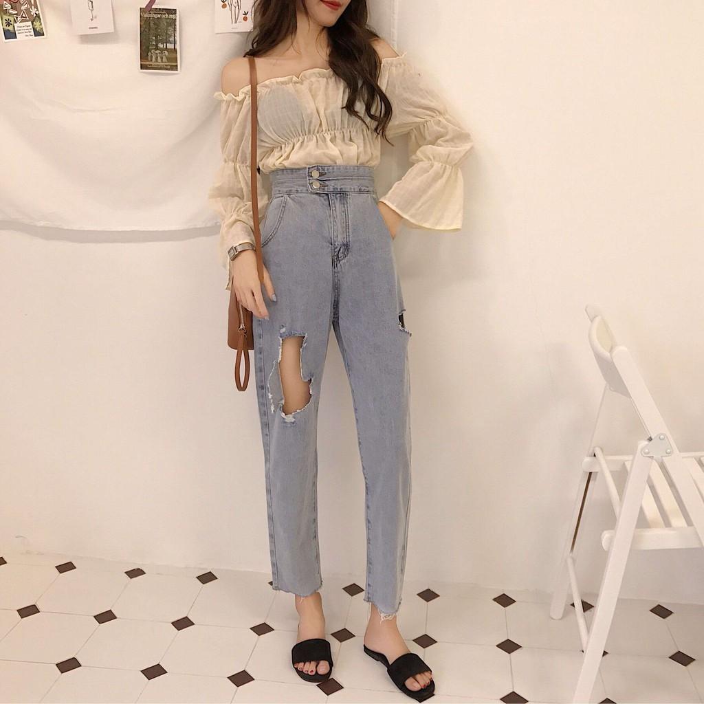 Celana Harem Panjang Casual Wanita Dengan Potongan Longgar Dan Motif Hareem Pants Standart Garis Bergaya Korea Shopee Indonesia
