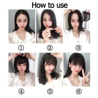 Bangs Clip hair Clip Thin Korean Cheap Korea Poni Palsu Poni Tipis Rambut Palsu Wig Tipis Korea Tidak Terlihat Tanpa Jejak 4