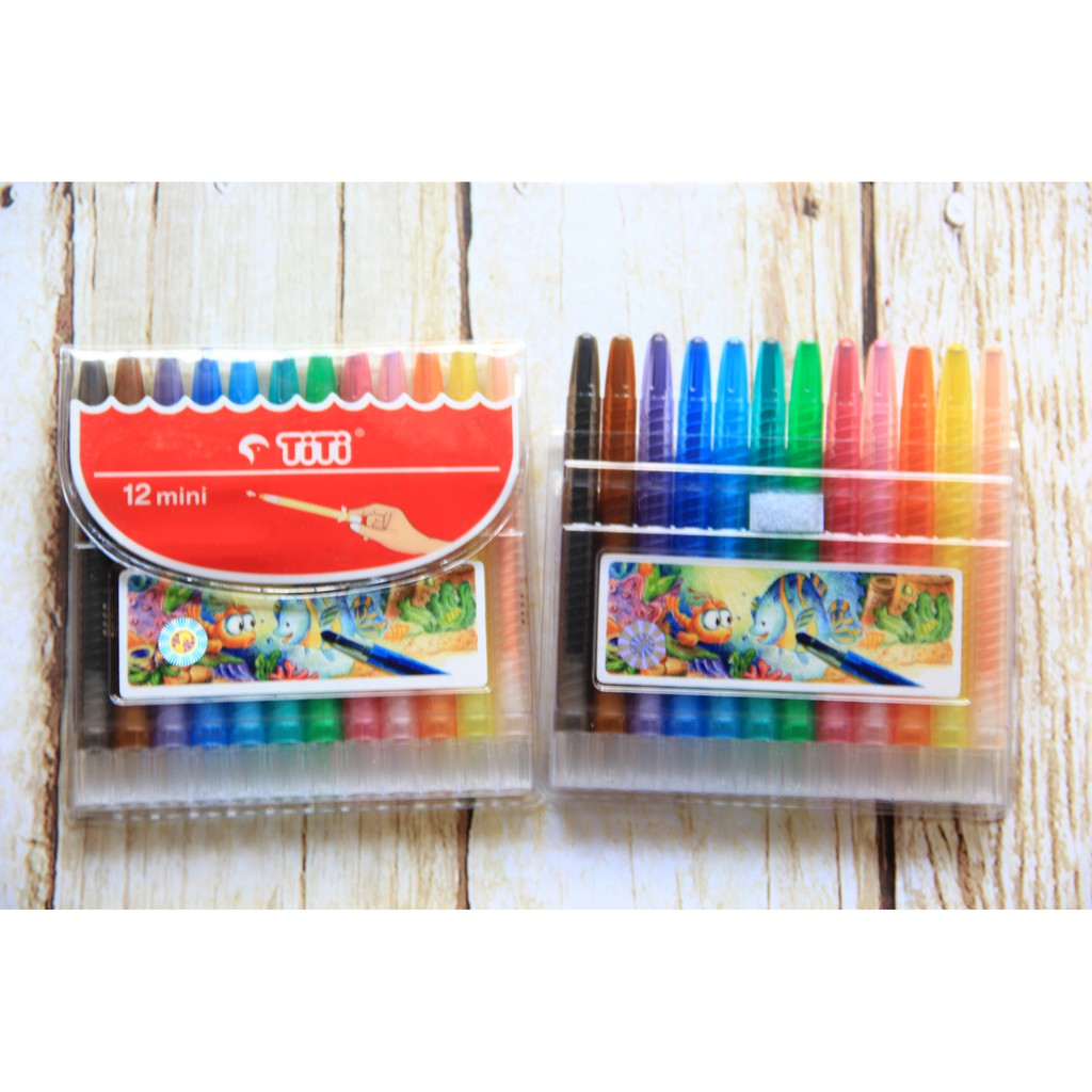 Crayon Putar Titi 12 Mini Shopee Indonesia Ti Cp 12t