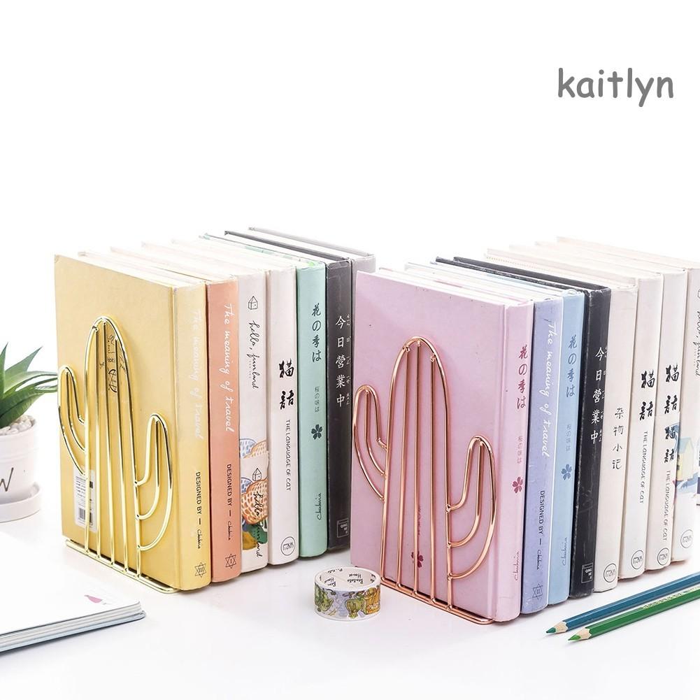 1 Pasang Rak Holder Buku Desain Kaktus Bahan Besi Shopee Indonesia