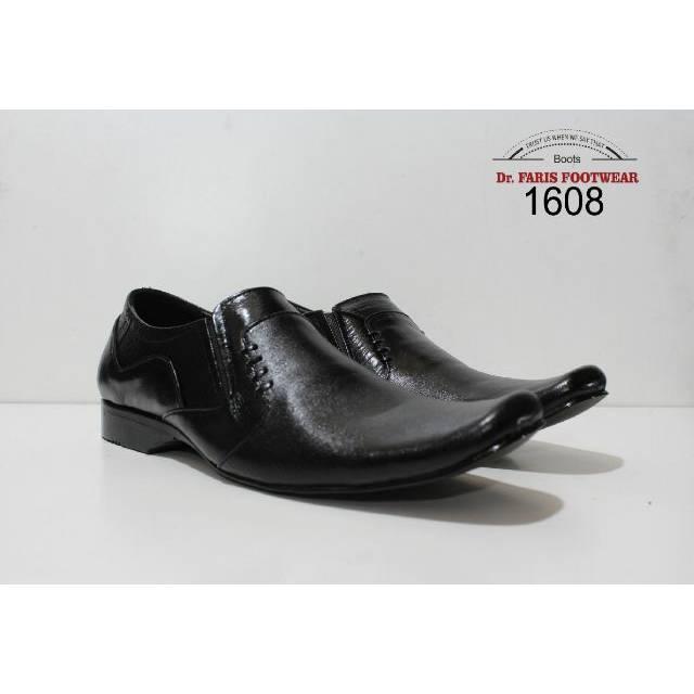 Sepatu formal Pria kulit asli - Dr faris pantofel black 1608 ( 39-43 )