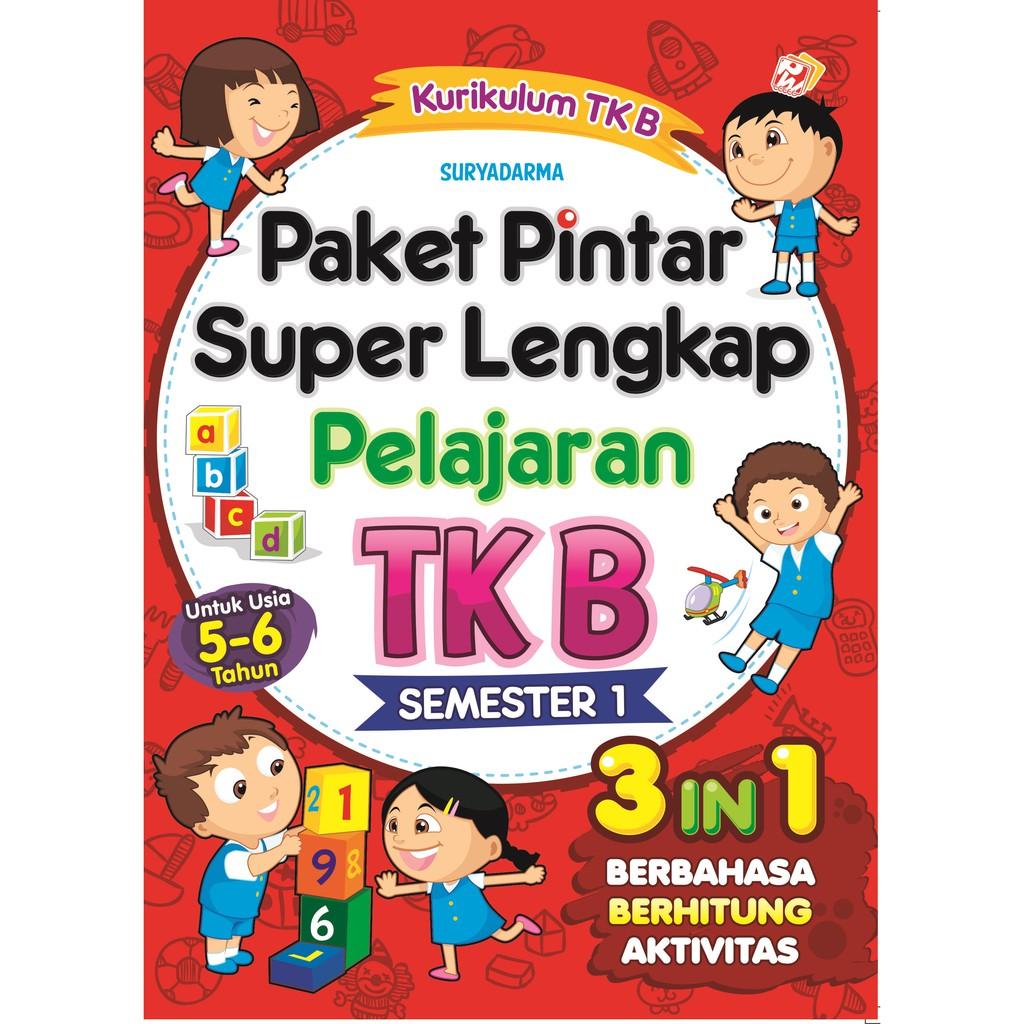Paket Pintar Super Lengkap Pelajaran Tk B Semester 1 Shopee Indonesia