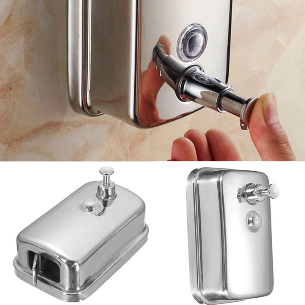 800ML SOAP/SHAMPOO DISPENSER PUMP ACTION WALL MOUNTED STAINLES STEEL DURABLE