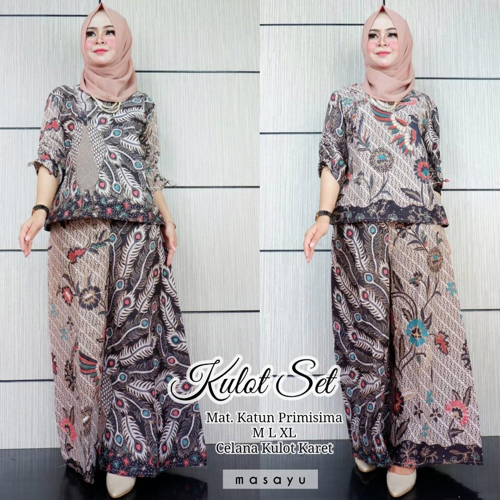 Aqira set batik setelan Rok Blus seragam batik modern fashion wanita batik  solo asli by hanymicha  23d89e10ca