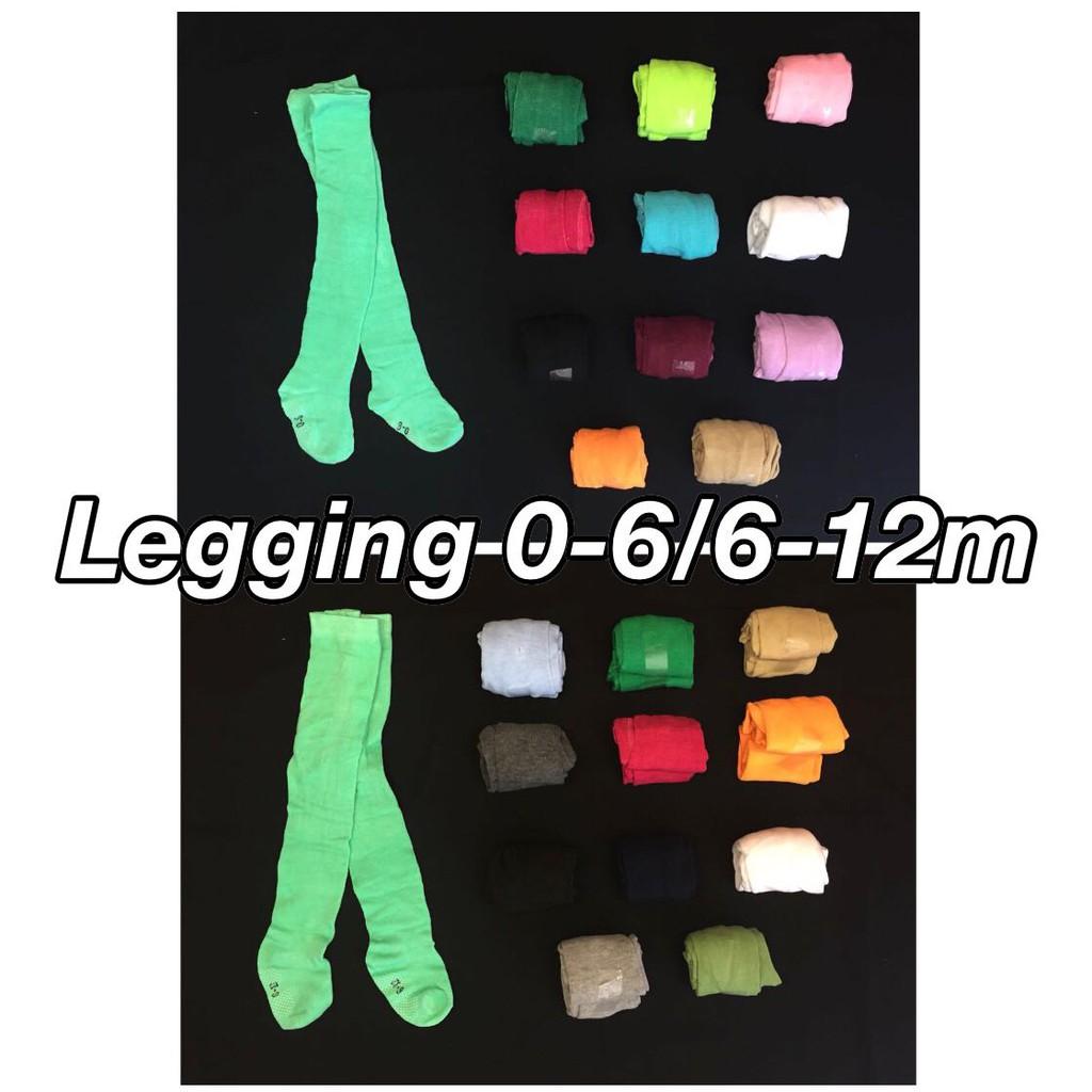 Legging Cotton Rich Polos 0 6m Dan 6 12m Shopee Indonesia 4pc
