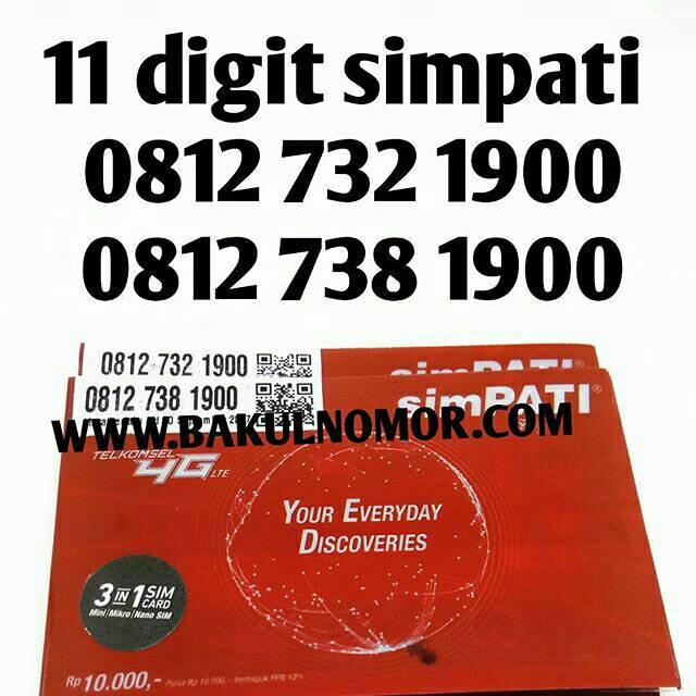 Perdana nomor cantik 11 digit simpati telkomsel Couple murah mudah dihapal   Shopee Indonesia