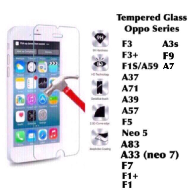 Promo OPPO R11 Tempered Glass Anti Gores Kaca Bening Screen Guard Protector | Shopee Indonesia