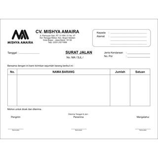Cetak Nota Bon Kwitansi Surat Jalan Tanda Terima Paket Hemat 50000 Rangkap 2