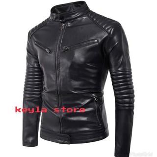 Jaket Pria Semi Kulit Jaket Motor Hitam - Spesifikasi Harga Produk ... a08f9b0a58
