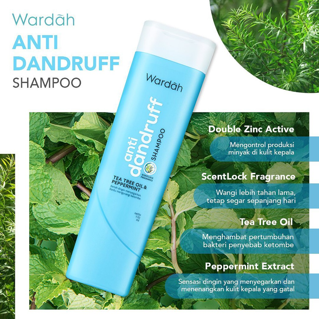 ❤ BELIA ❤ Wardah Shampoo & Conditioner   Daily Fresh Hairfall Treatment Anti Dandruff Nutri Shine-1