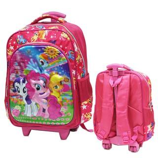 Little Pony Tas Trolley SD Motif 5D Timbul Hologram Kantung Besar Import Pink