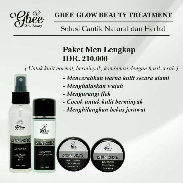 Skincare Bpom Cowok Paket Men Glowbeauty Shopee Indonesia