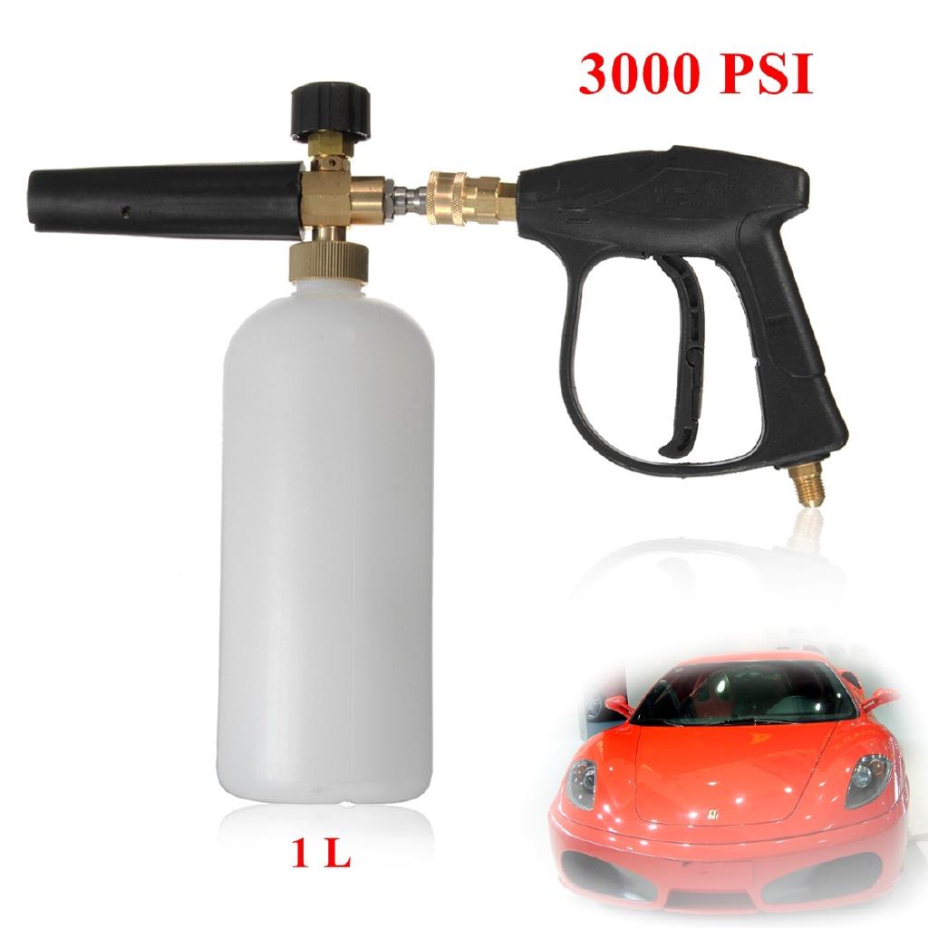 Car Foam Gun >> New Foam Lance Snow Pressure Gun Bottle Car Foamer Wash Quick Adapter Jet