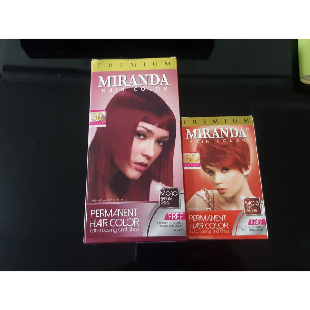 Miranda Hair Colour Kemasan Besar Shopee Indonesia Feves Color Cream  60ml