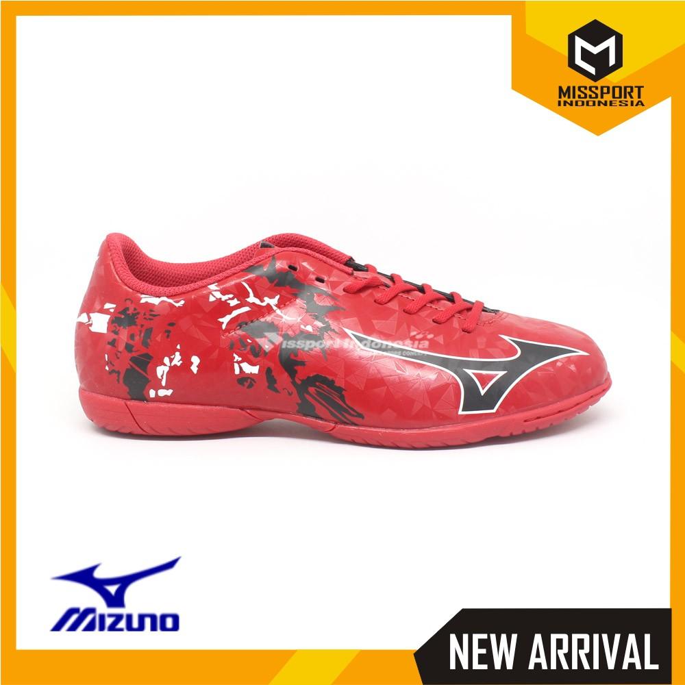 Sepatu Futsal MIZUNO Basara 103 In Wide Red Black 100% original Merah  39f23a50c7