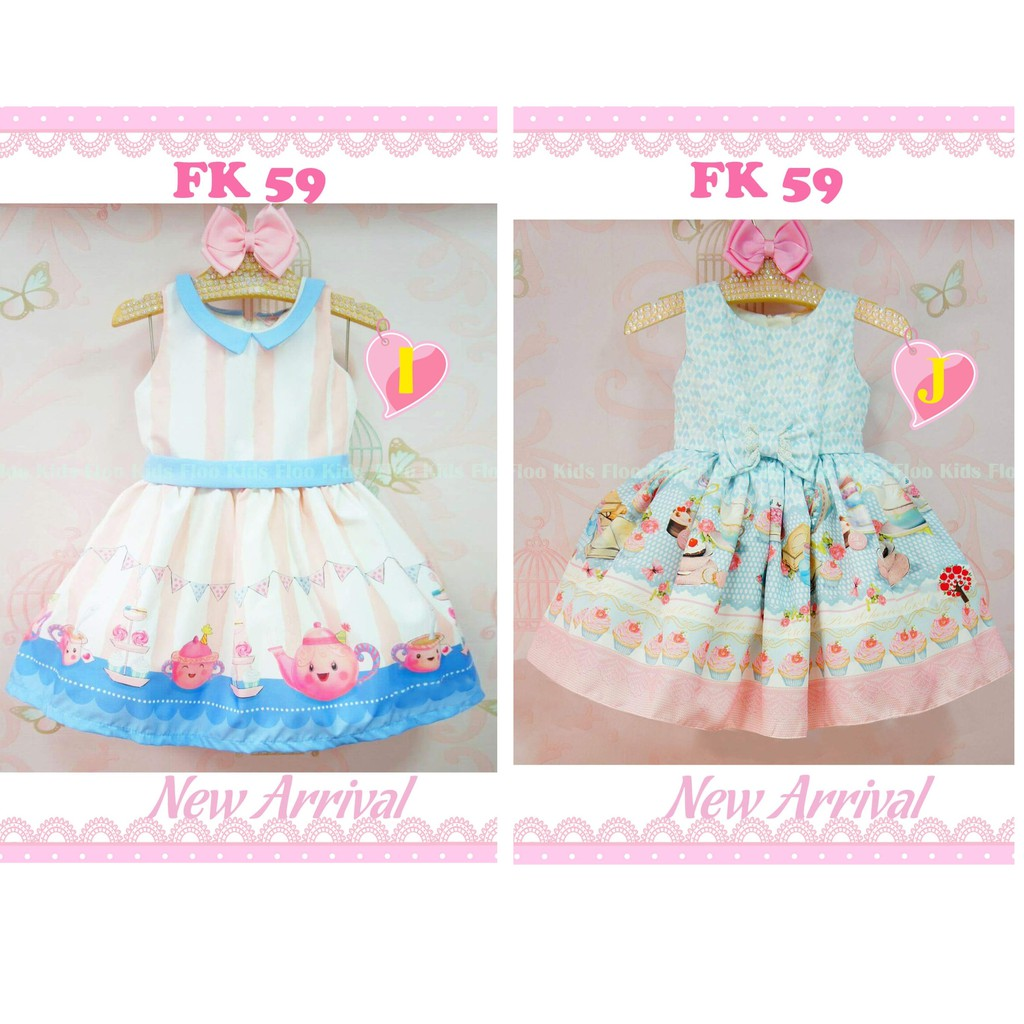 DRESS ANAK FASHION FLOWER KIDS ...