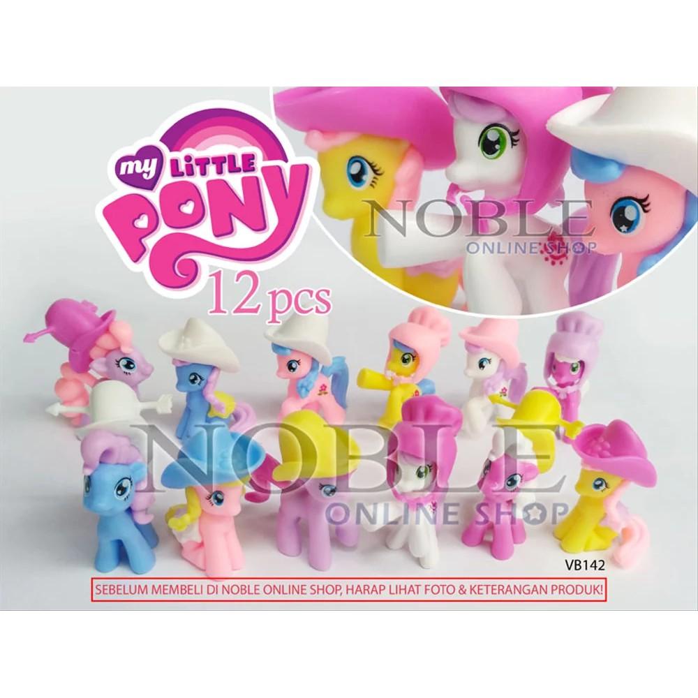 Promo 12 Pcs Little Pony Figure Koboy Kuda Mini Lucu Koboi Cantik Topi Cute Vb142 Keren Shopee Indonesia