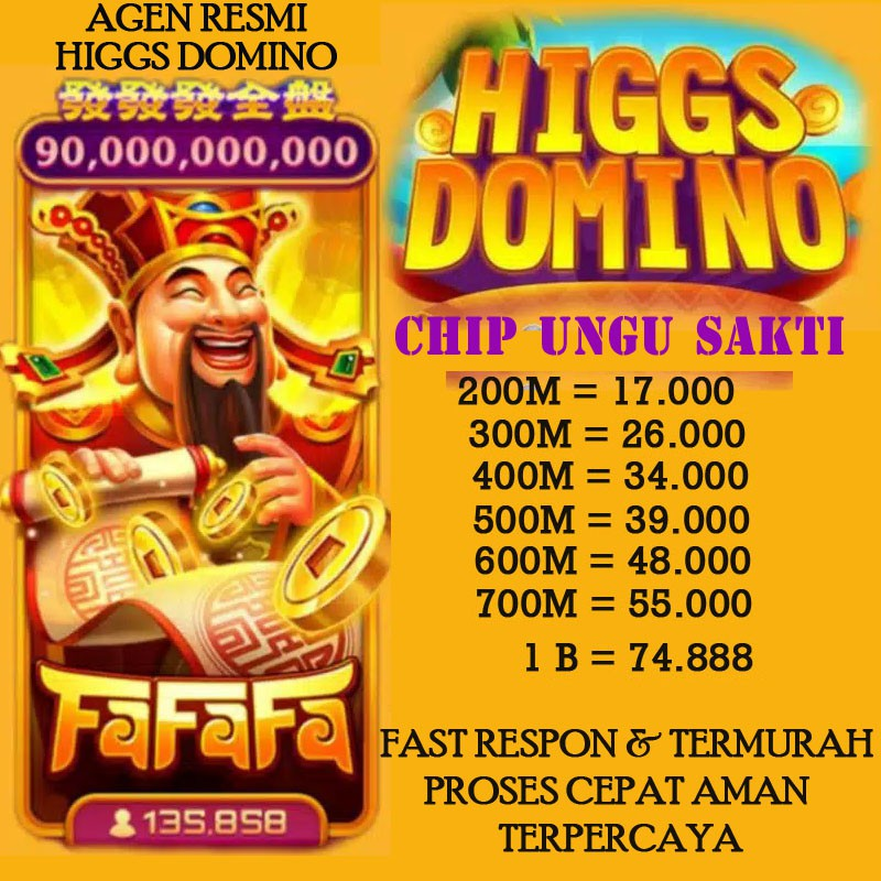 COIN CHIP DOMINO HIGGS UNGU SAKTI