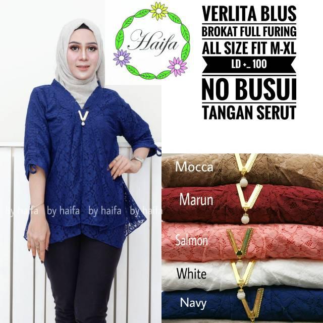 Baju atasan wanita Blouse blus brukat brokat cantik murah  299248af95