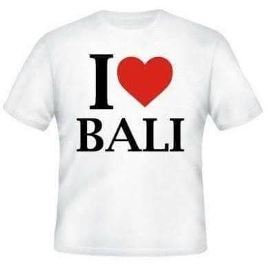 BEST SELLER KAOS BAJU COMBED 3 DISTRO I LOVE BALI POLOS CUSTOM SOUVENIR OLEH CINTA !!!