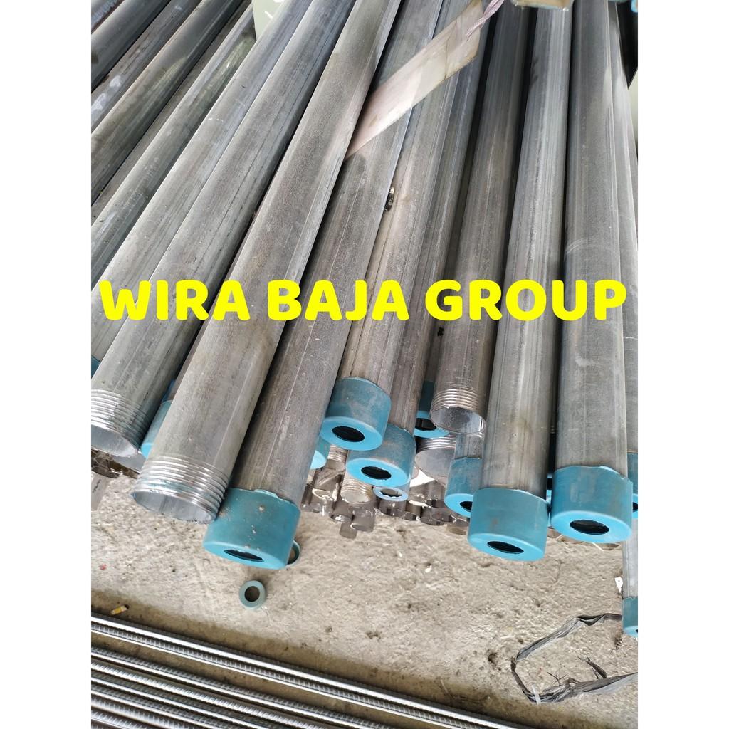 Pipa Galvanis 1 2 Inch X 1 4 Mm Panjang 6 Meter Pipa Shopee Indonesia Harga besi galvanis per meter