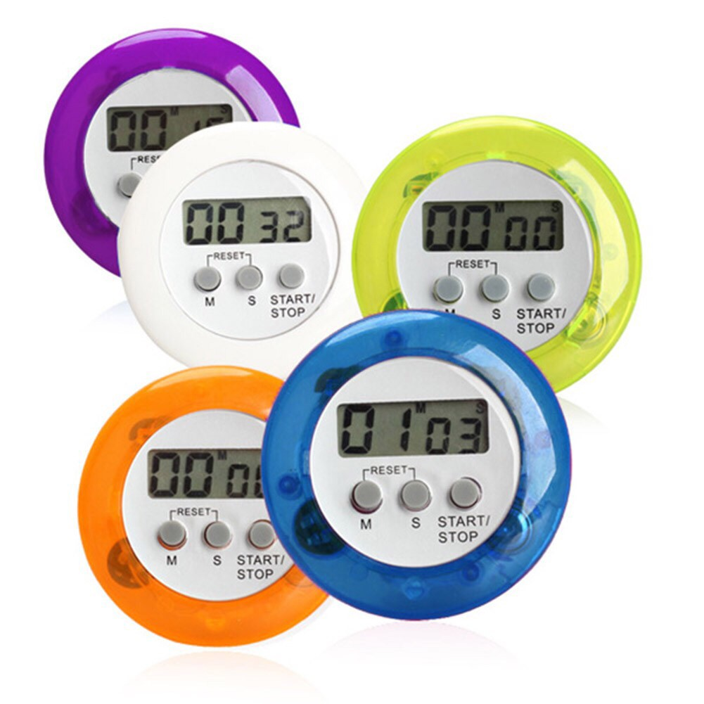 Rafashop - Warna Kitchen Timer alarm dapur digital masak clock stopwatch pengingat oven