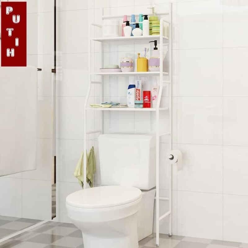 (3KG) SHENAR RAK TOILET / RAK ORGANIZER WC (WHITE ...