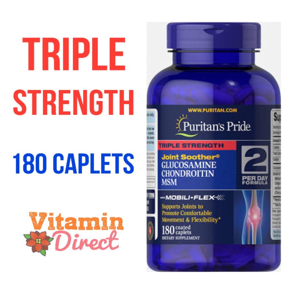 Puritans Pride Triple Strength Glucosamine Chondroitin Msm Gcm Puritan 90 Caps Caplets 90caps Shopee Indonesia