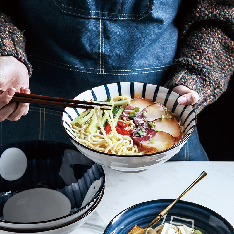 Japanese Ramen Bowl Household Large Noodle Soup Bowl Single Noodle Large Bowl Soup Bowl Ceramic Cold Noodle Bowl Hat Noodle Bowl Shopee Indonesia