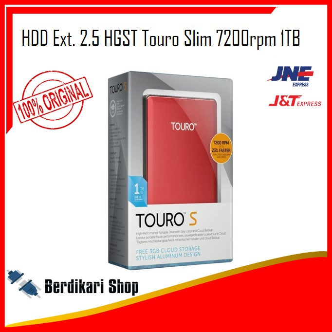 HDD Ext. 2.5 HGST Touro 7200rpm 1TB
