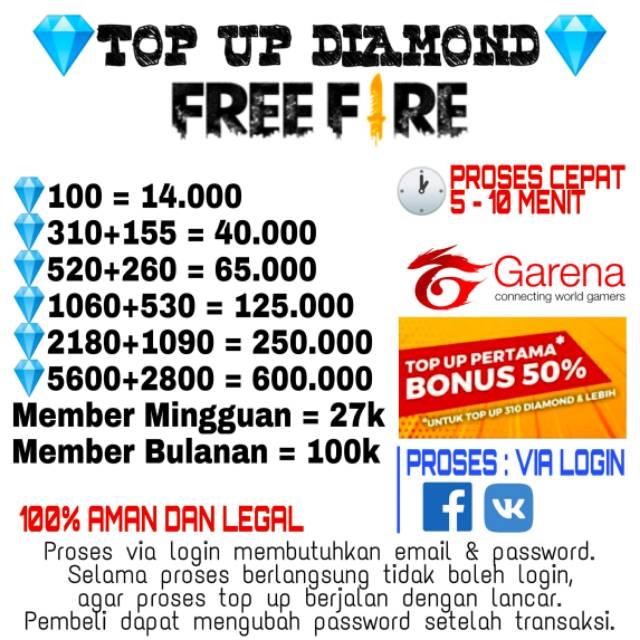 [PROMO] DIAMOND GARENA FREE FIRE MURAH