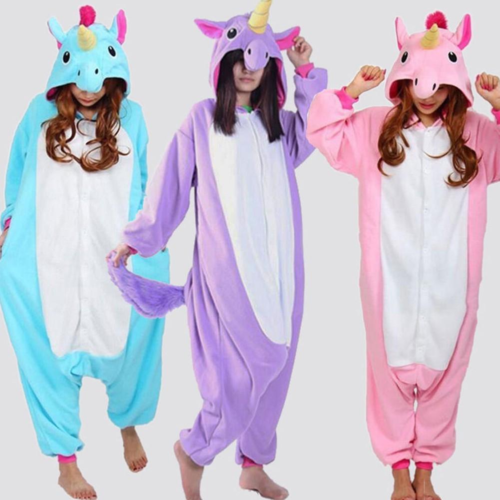Baju Tidur Jumpsuit Onesie Cosplay Kostum Hewan Kartun Unicorn