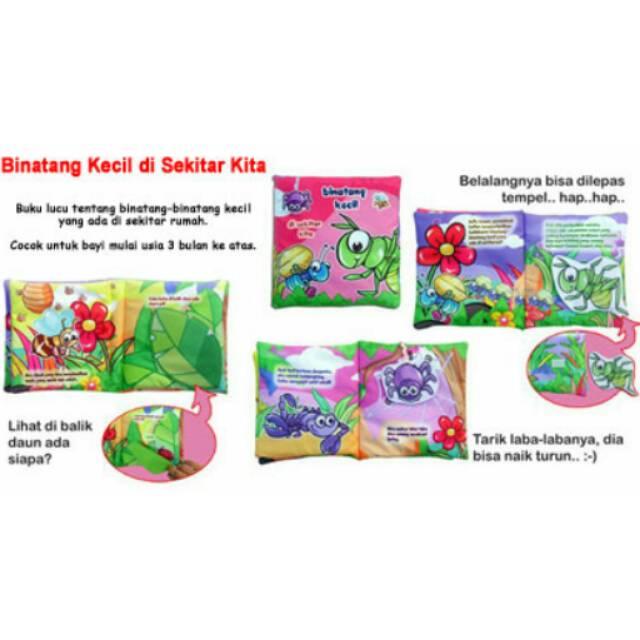 Buku bantal kain softbook bayi Binatang Kecil Di Sekitar Kita | Shopee Indonesia