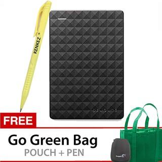 Seagate Expansion New 4TB Portable Drive USB 3.0 - Hitam + Gratis Go Green Bag + Pouch + Pen