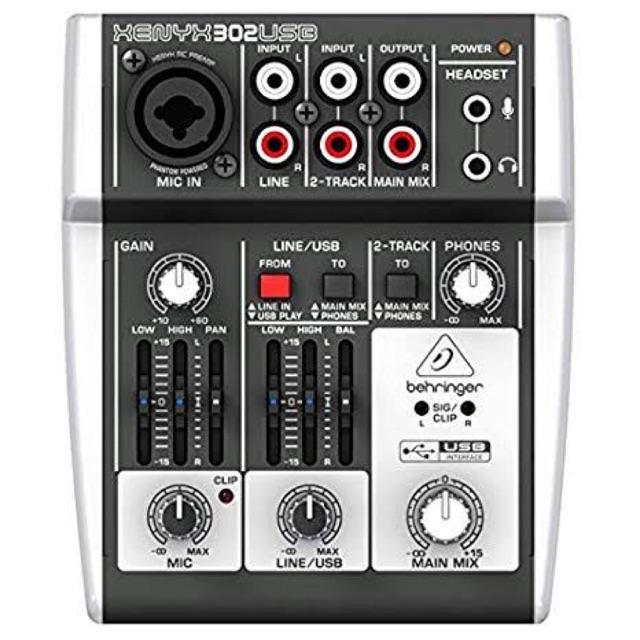 Mixer behringer xenyx 302 usb . Mixer behringer 302 . Mixer audio