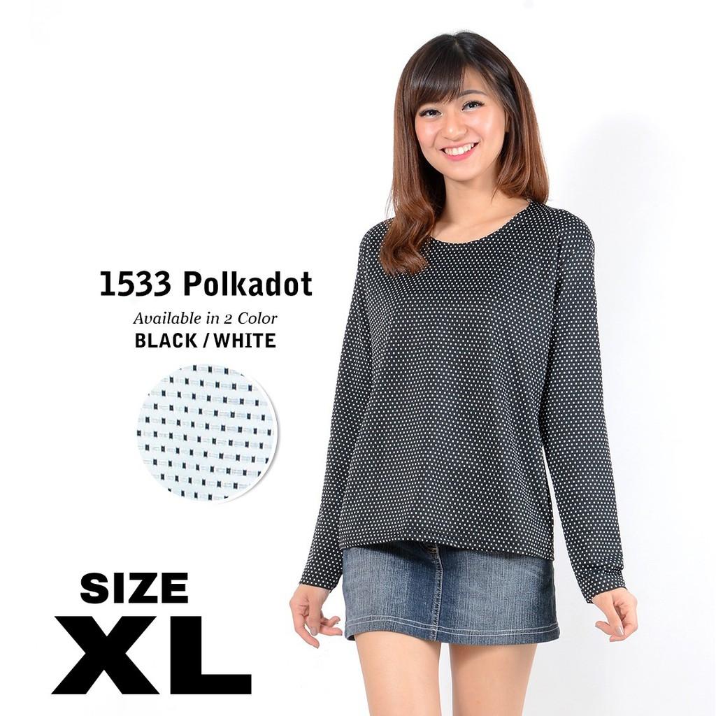 Belle Fashion Baju Kaos Jumbo Big Size Xl Xxl Salur Stevi Murah Bigsize Star Blouse Cewek Wanita Lengan Panjang Kekinian Shopee Indonesia