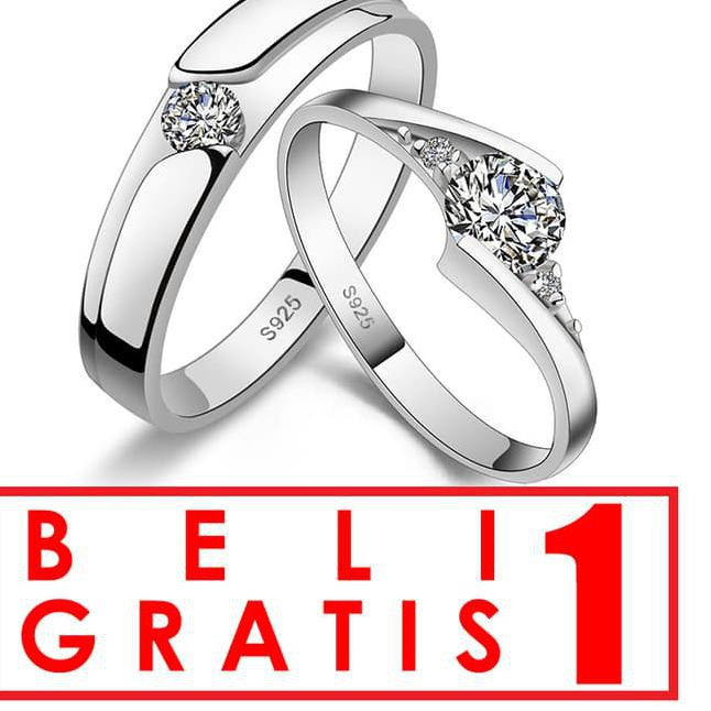 VEGA STAR RING Silver 925 Gold Coated Cincin Couple Perak Lapis Emas ...,, | Shopee Indonesia