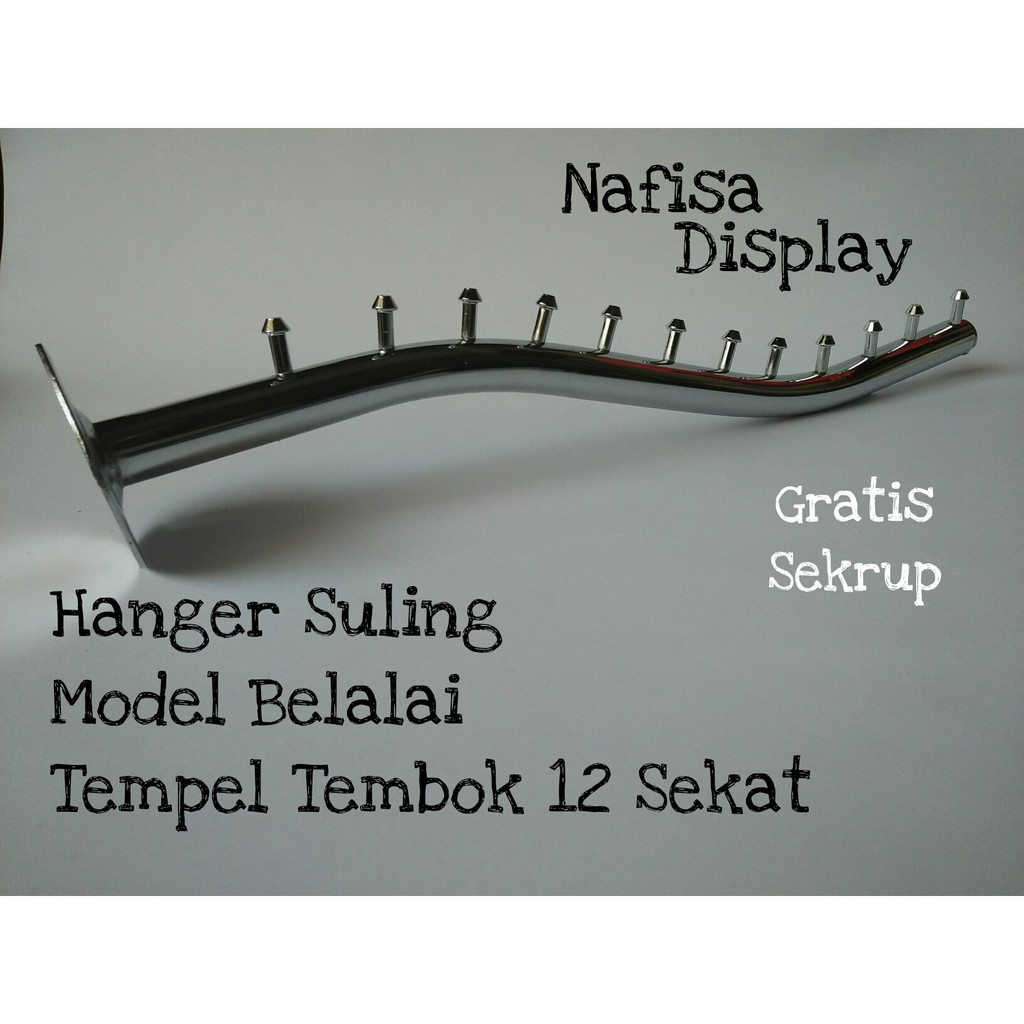 Pipa Tempel 12 Titik Gantungan Tembok Shopee Indonesia Hanger Seruling