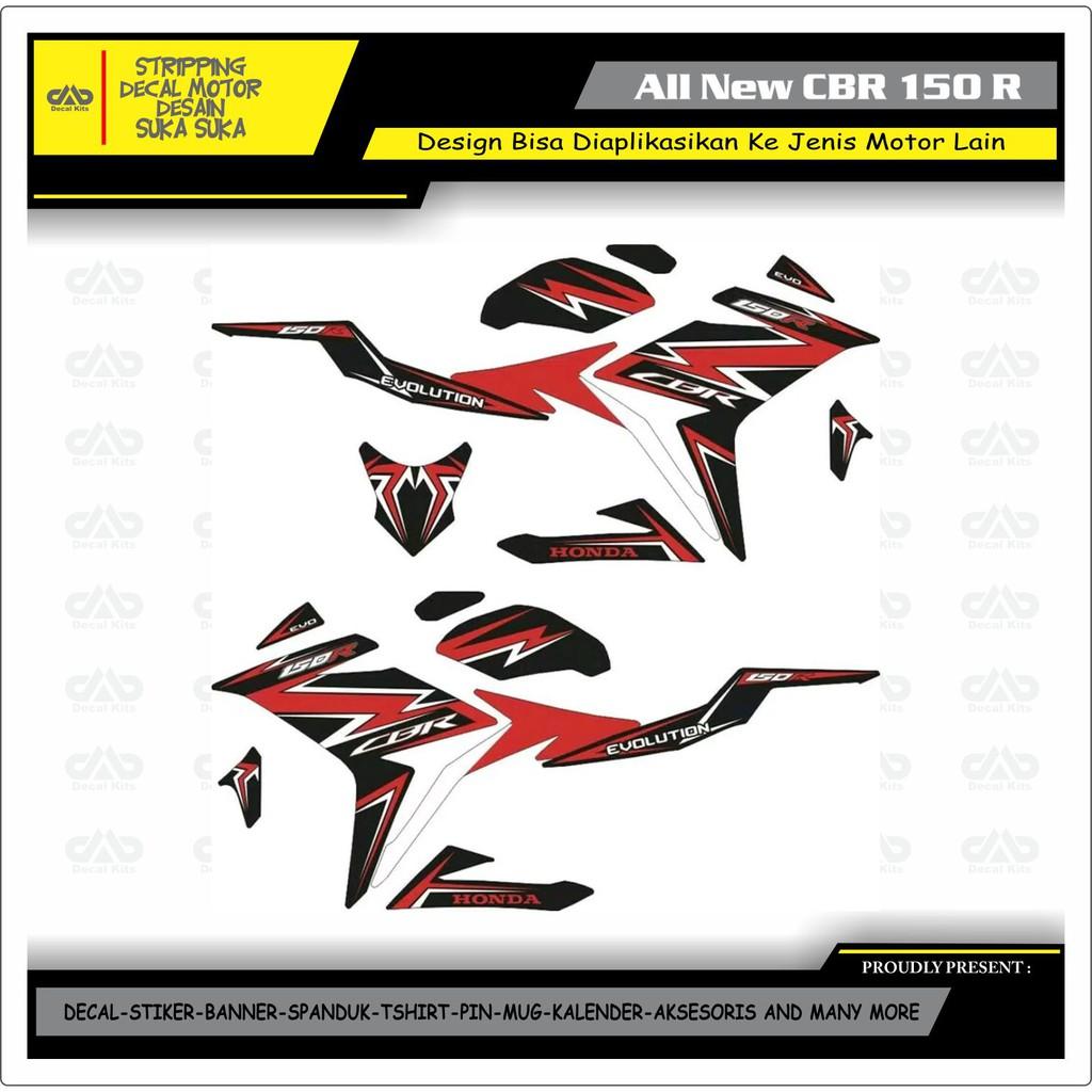 Decal stiker sticker supra gtr 150 desain keren racing 03 spec a shopee indonesia
