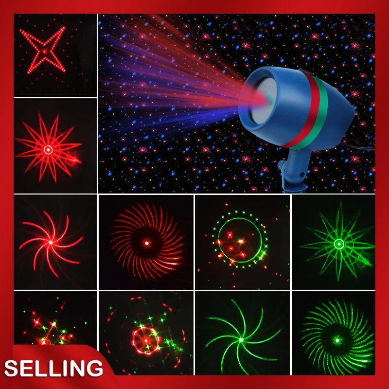 Lampu Proyektor Laser Led 220v Motif Bintang Snowflake Untuk Dekorasi Natal Taman Outdoor Shopee Indonesia