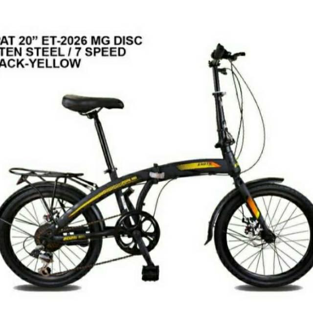 Sepeda Lipat 20 Exotic 2026 Bering Rem Cakram Depan Belakang Shopee Indonesia
