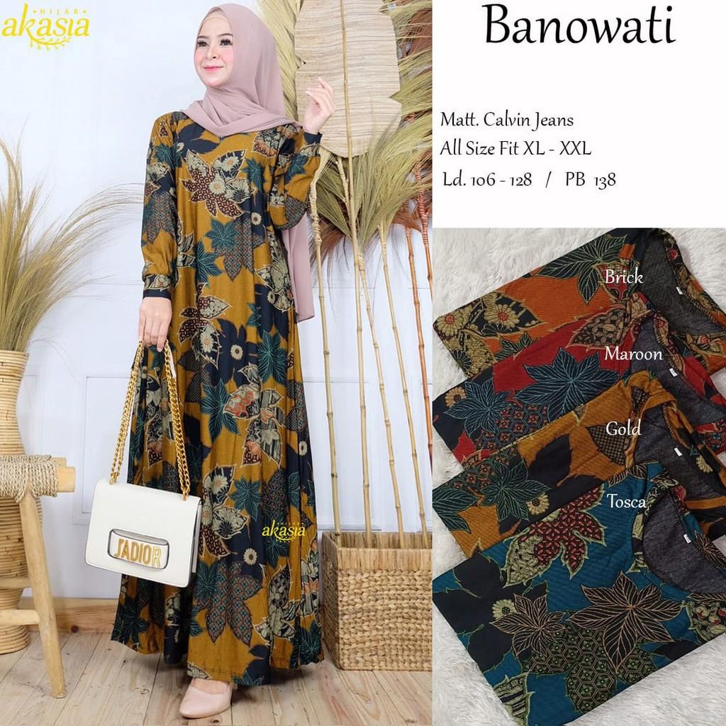 Gamis Baru Dress Muslim Fashion Wanita Murah Denora Banowati Maxy Shopee Indonesia