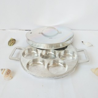 Loyang cetakan kue lumpur martabak manis mini isi 7 lubang + tutup + sutil