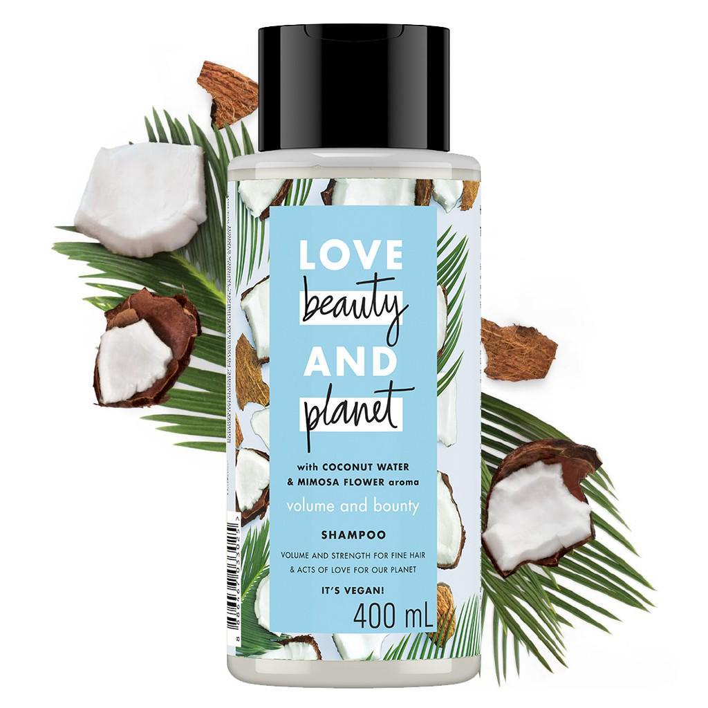 Love Beauty Planet Shampoo Coconut Water & Mimosa Flower 400 ml Twinpack-1