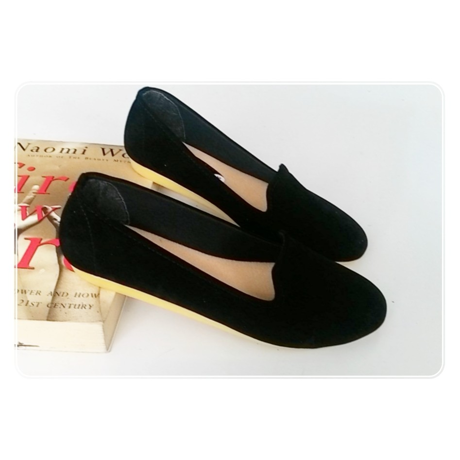Amazara Jocelyn Black Glossy Flatshoes Shopee Indonesia Catrice Nude Ivory 40