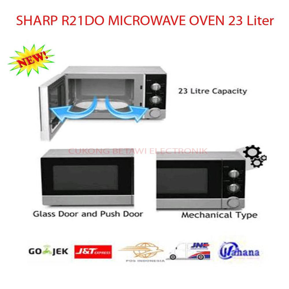 SHARP Microwave Oven R-728 (W)-IN. Kapasitas 25 L. Baru Bergaransi Resmi | Shopee Indonesia
