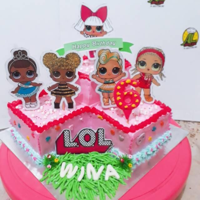 Kue ulang tahun karakter lol