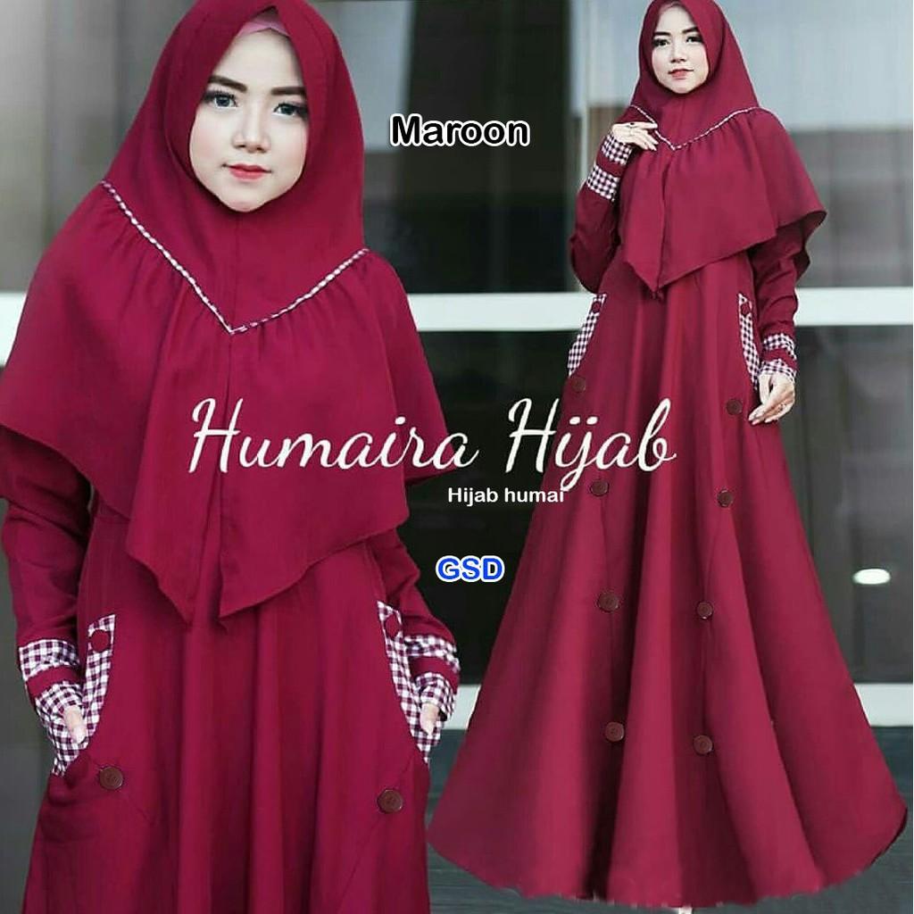 long dress muslim wanita/baju kurung wanita/gamis pesta wanita/gamis busui wanita