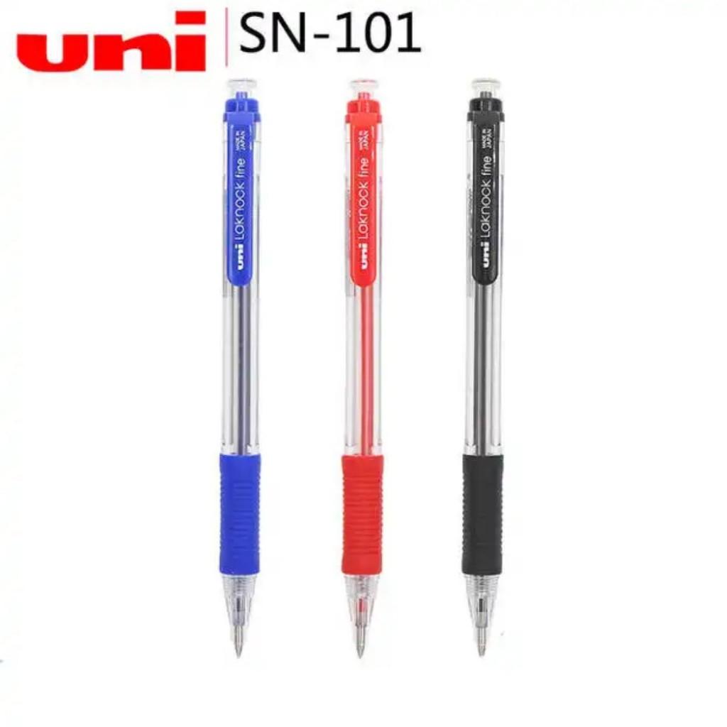 BLUE ink fine point Box of 12 pcs Uni Laknock ball point pen SN101